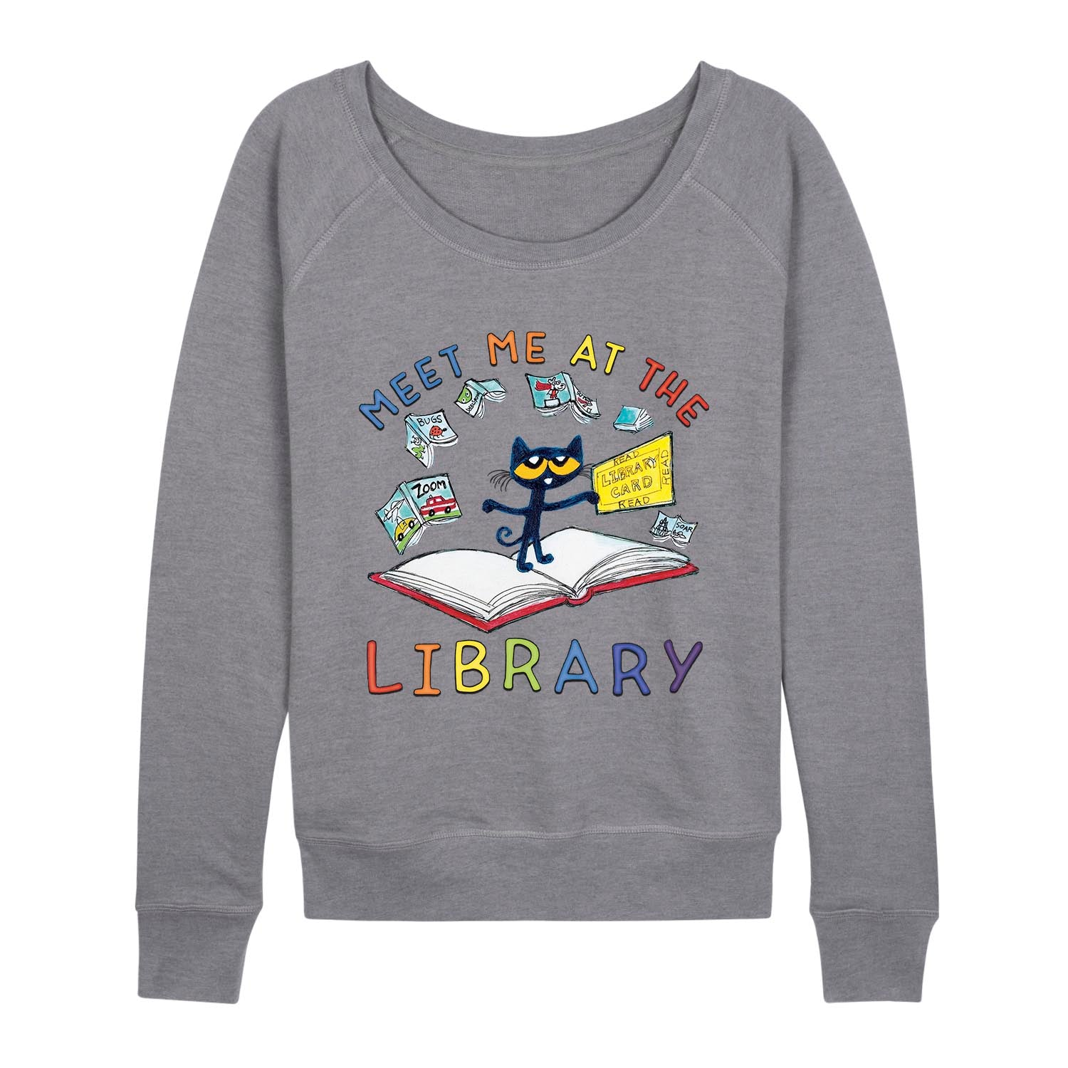 Pete The Cat™ - Meet Me At The Library - Women's Slouchy