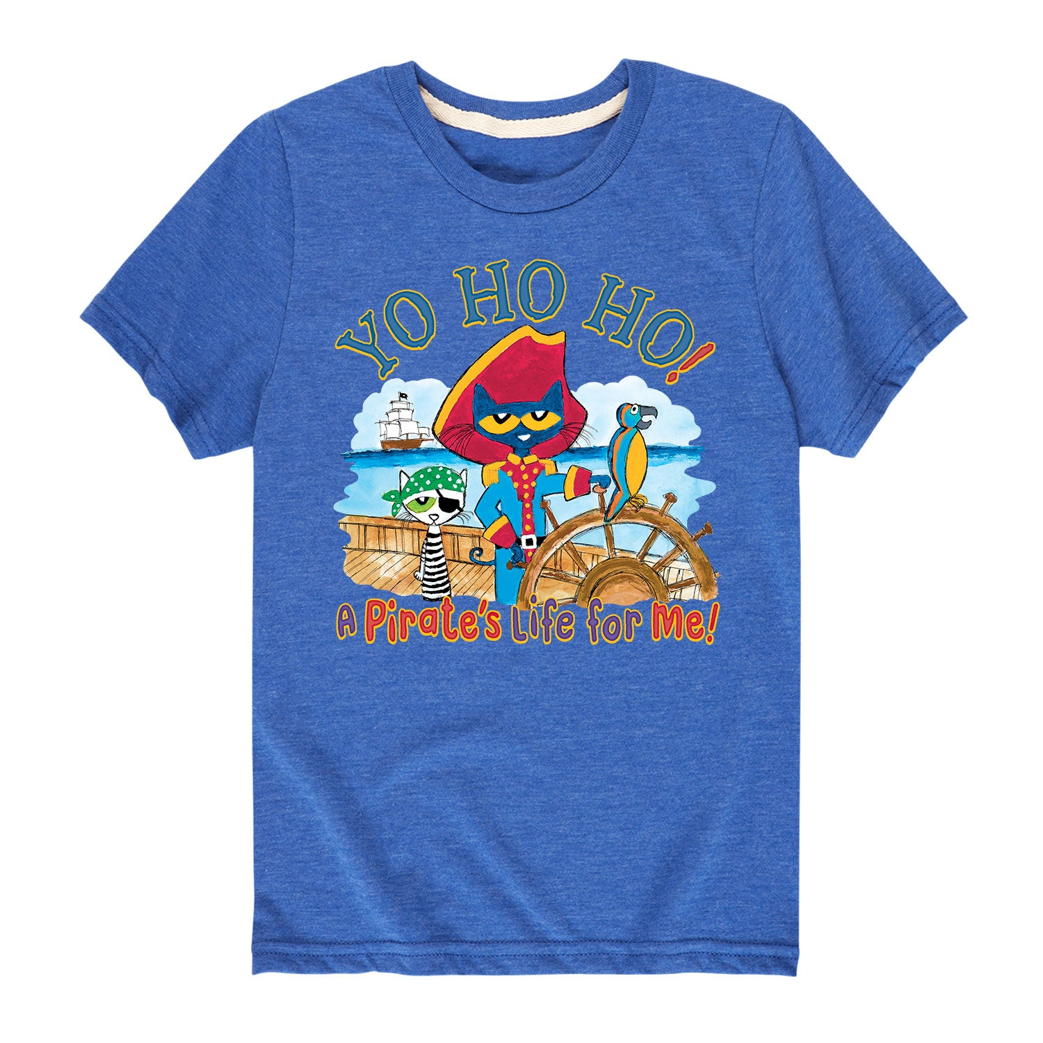 Pete The Cat Pirate Yo Ho Ho - Toddler Short Sleeve T-Shirt