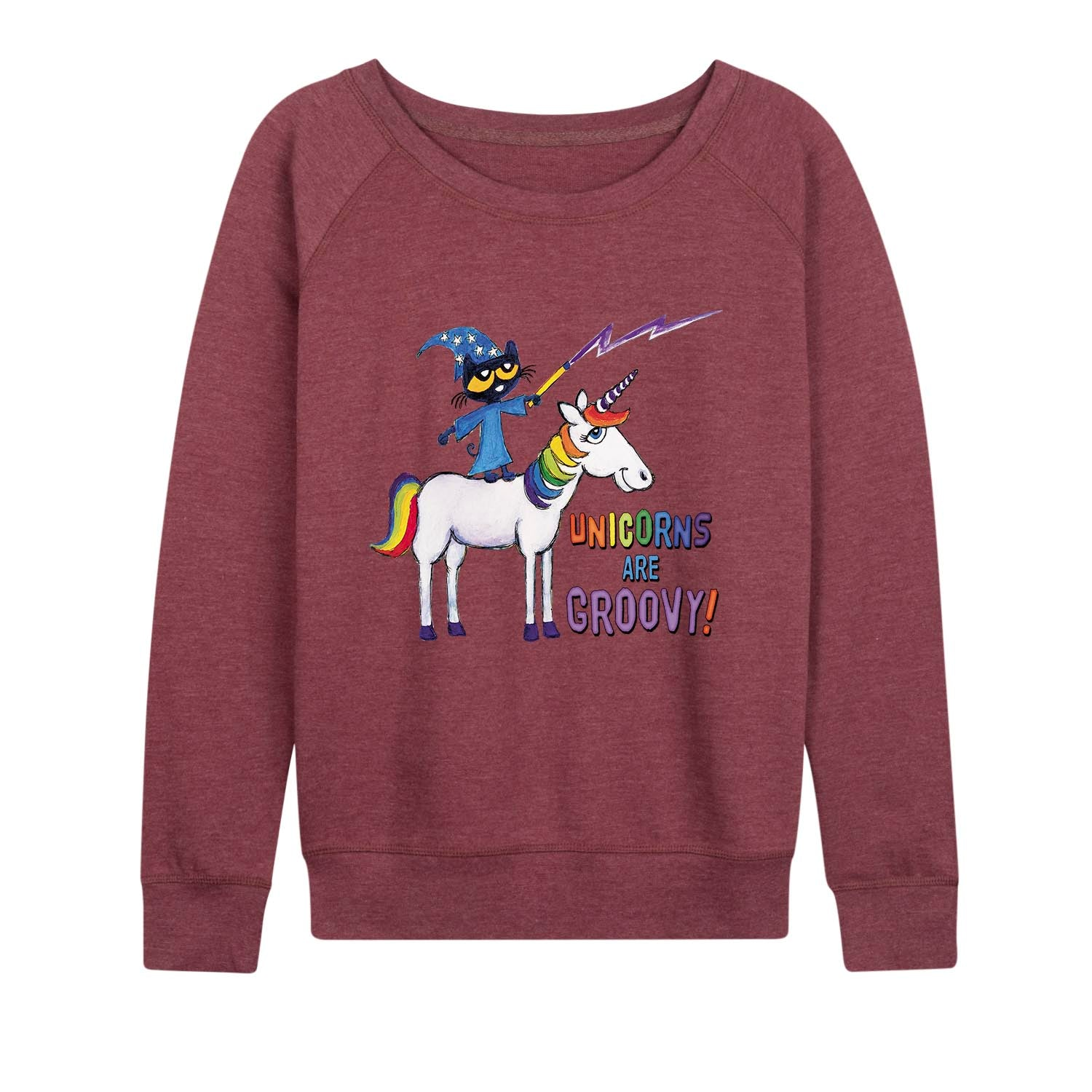 Pete The Cat™ - Unicorns Are Groovy - Women's Slouchy