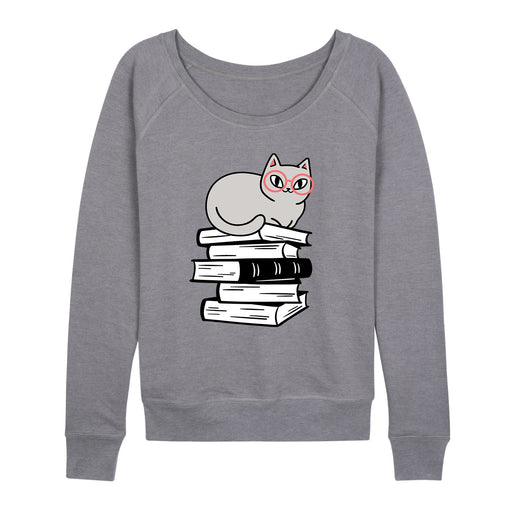 Cat On Books - Women's Slouchy