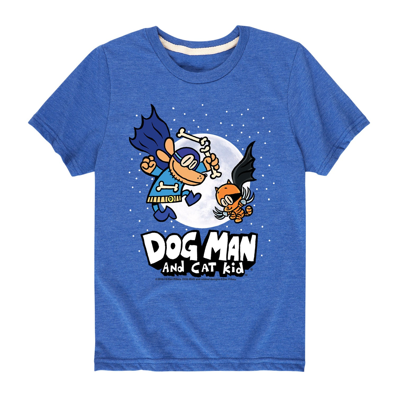 Dog Man and Cat Kid Moon - Youth & Toddler Short Sleeve T-Shirt