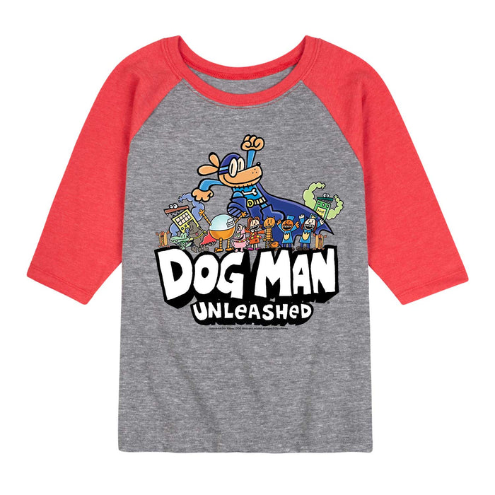 Dog Man Everyone - Youth & Toddler Raglan