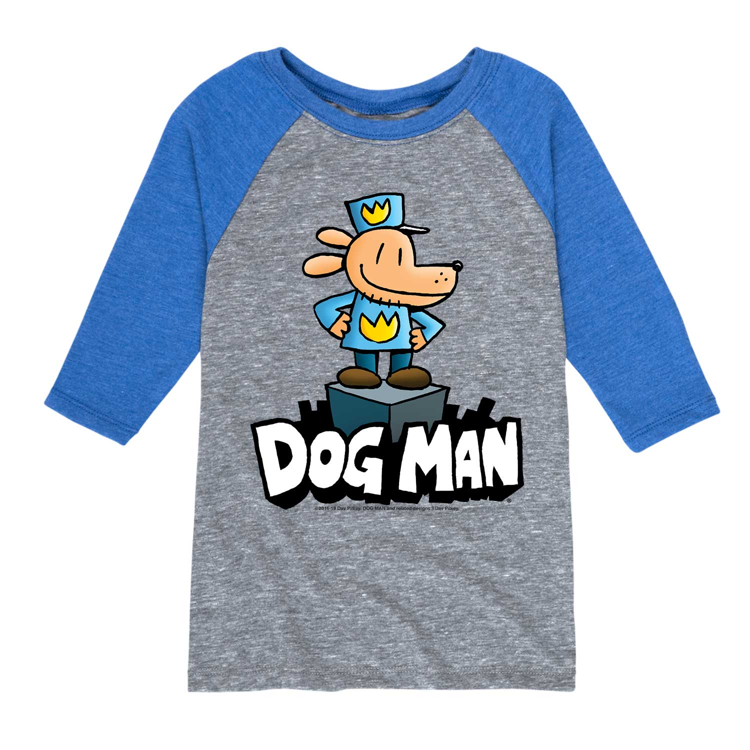 Dog Man On Pedestal - Youth & Toddler Raglan