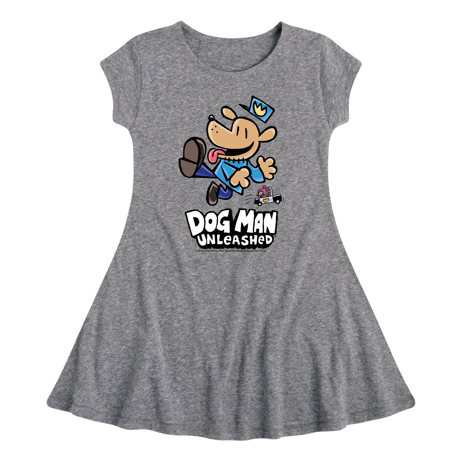 Dog Man Unleashed - Youth & Toddler Girls Fit and Flare Dress