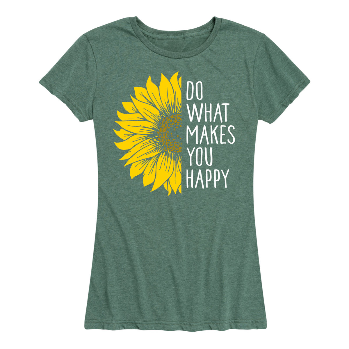 Do What Makes You Happy Sunflower - Women's Short Sleeve T-Shirt