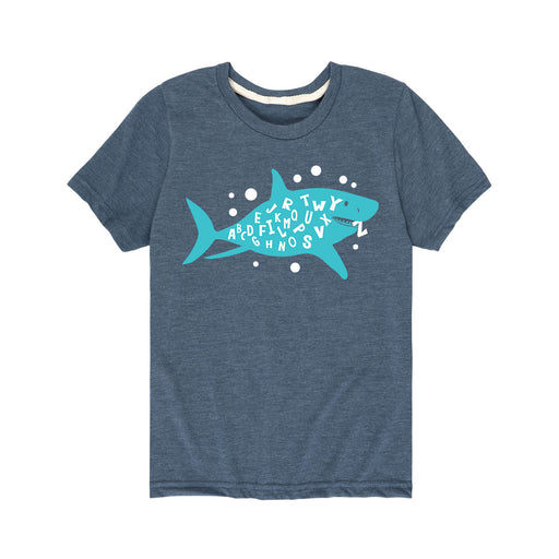 Shark Week Letters Alphabet Toddler Short Sleeve T-Shirt