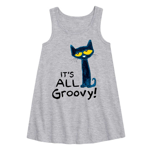 Pete The Cat It's All Groovy  - Toddler Girl A-Line Dress
