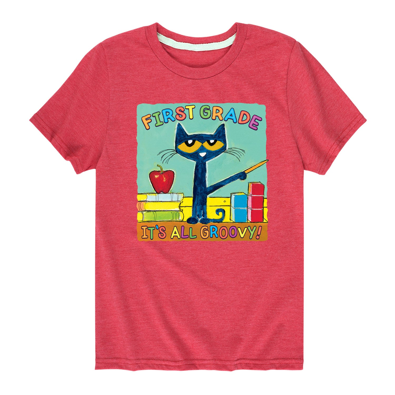 Pete The Cat First Grade It's All Groovy - Toddler Short Sleeve T-Shirt