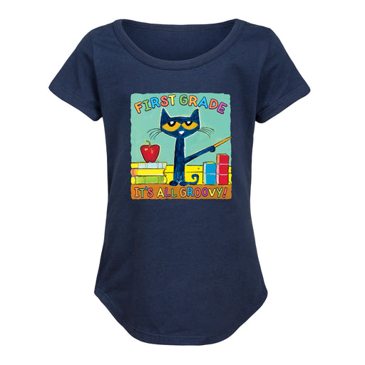 Pete The Cat First Grade It's All Groovy - Toddler Girl Short Sleeve T-Shirt