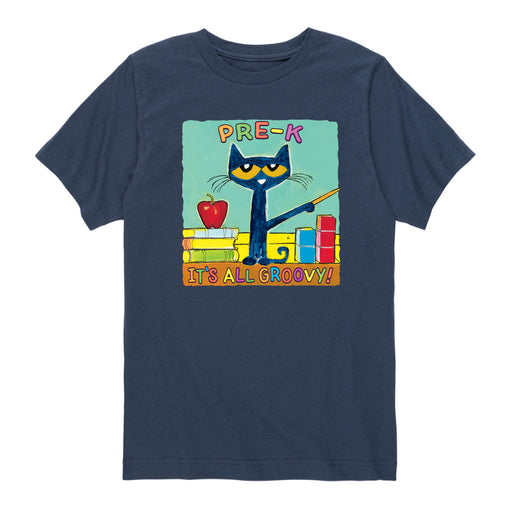 Pete The Cat Pre-K It's All Groovy - Toddler Short Sleeve T-Shirt