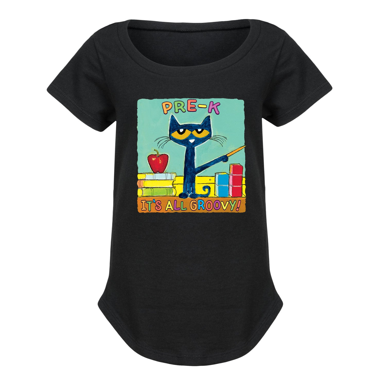 Pete The Cat Pre-K It's All Groovy - Toddler Girl Short Sleeve T-Shirt