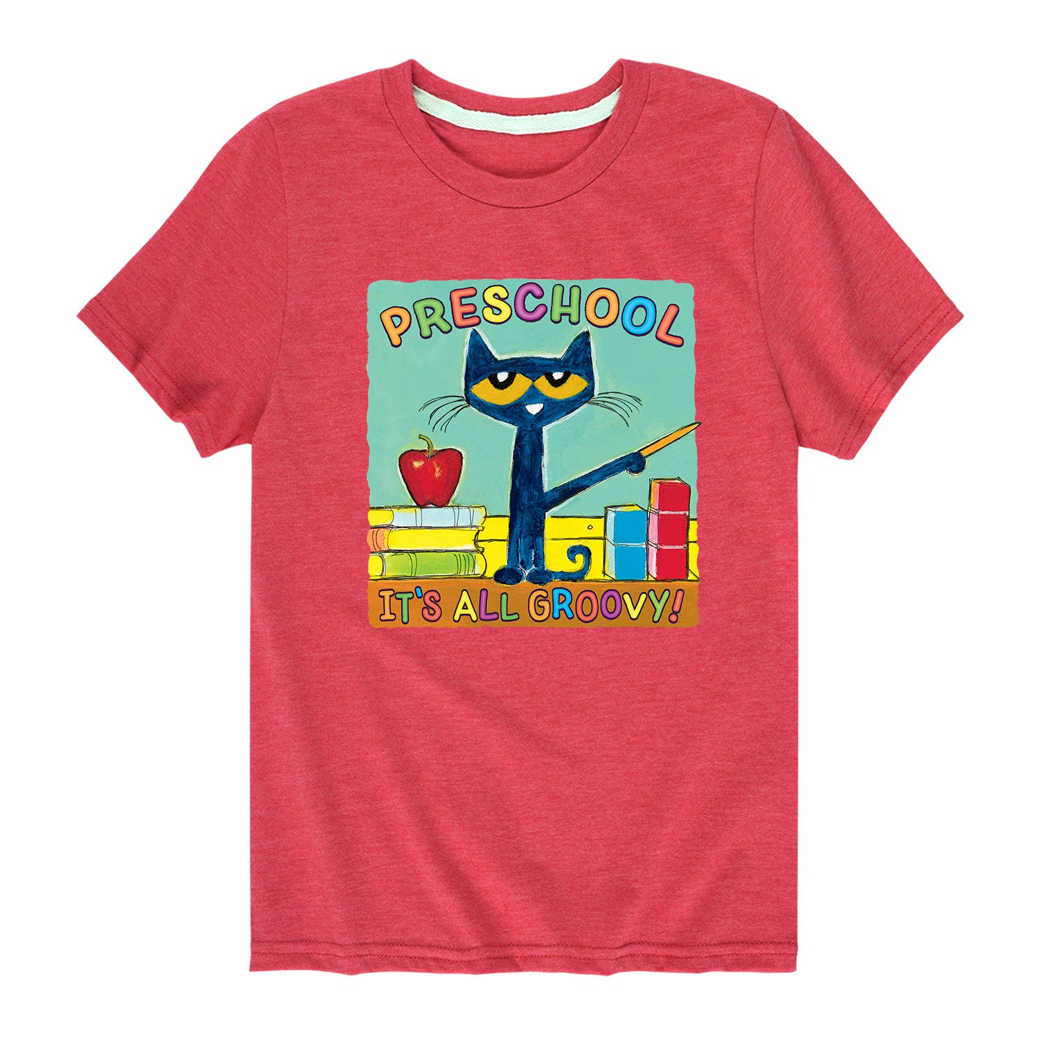 Pete The Cat Preschool It's All Groovy - Toddler Short Sleeve T-Shirt