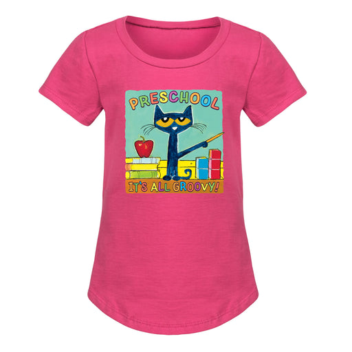 Toddler Short Sleeve Tee Pete the Cat Red Car