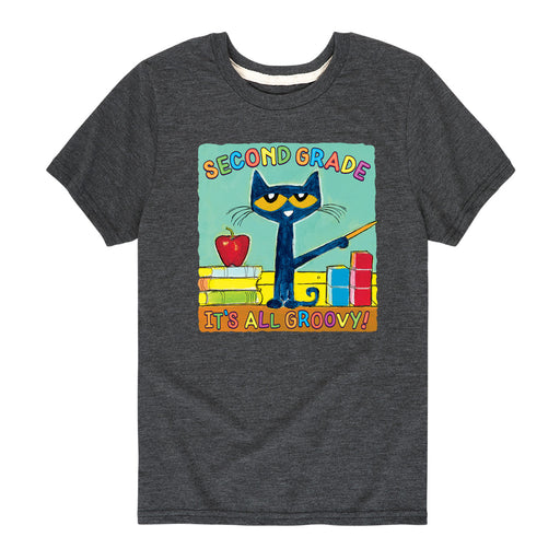 Pete The Cat Second Grade It's All Groovy - Toddler Short Sleeve T-Shirt