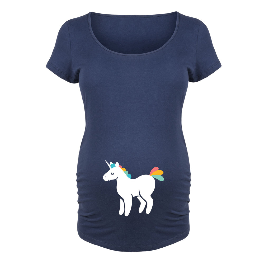 Rainbow Unicorn - Maternity Short Sleeve T-Shirt