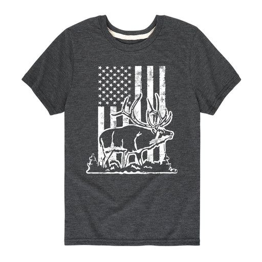 Elk Flag - Youth Short Sleeve T-Shirt