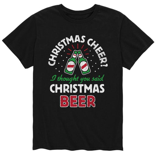 Christmas Cheer Christmas Beer - Men's Short Sleeve T-Shirt