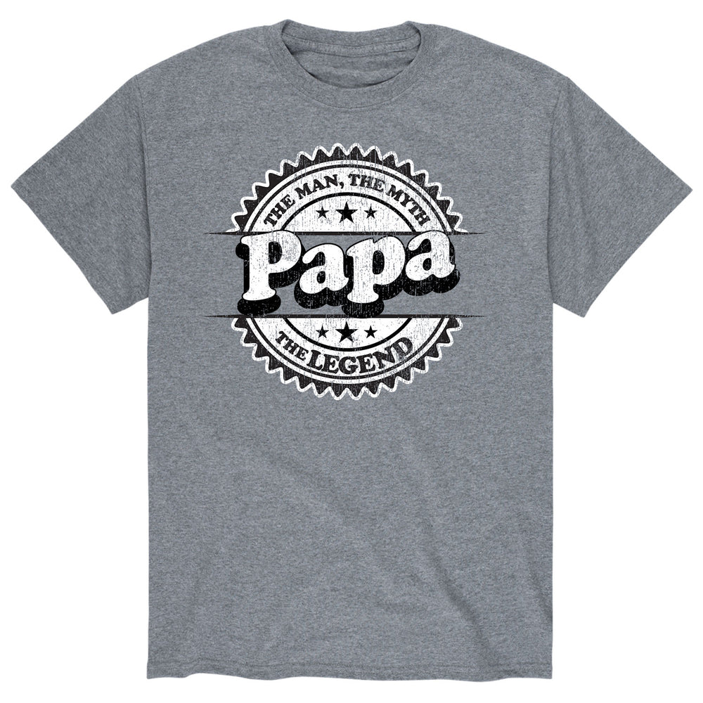 Papa The Man The Myth The Legend - Men's Short Sleeve T-Shirt