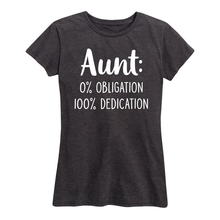 Aunt Zero Percent Obligation - Women's Short Sleeve T-Shirt