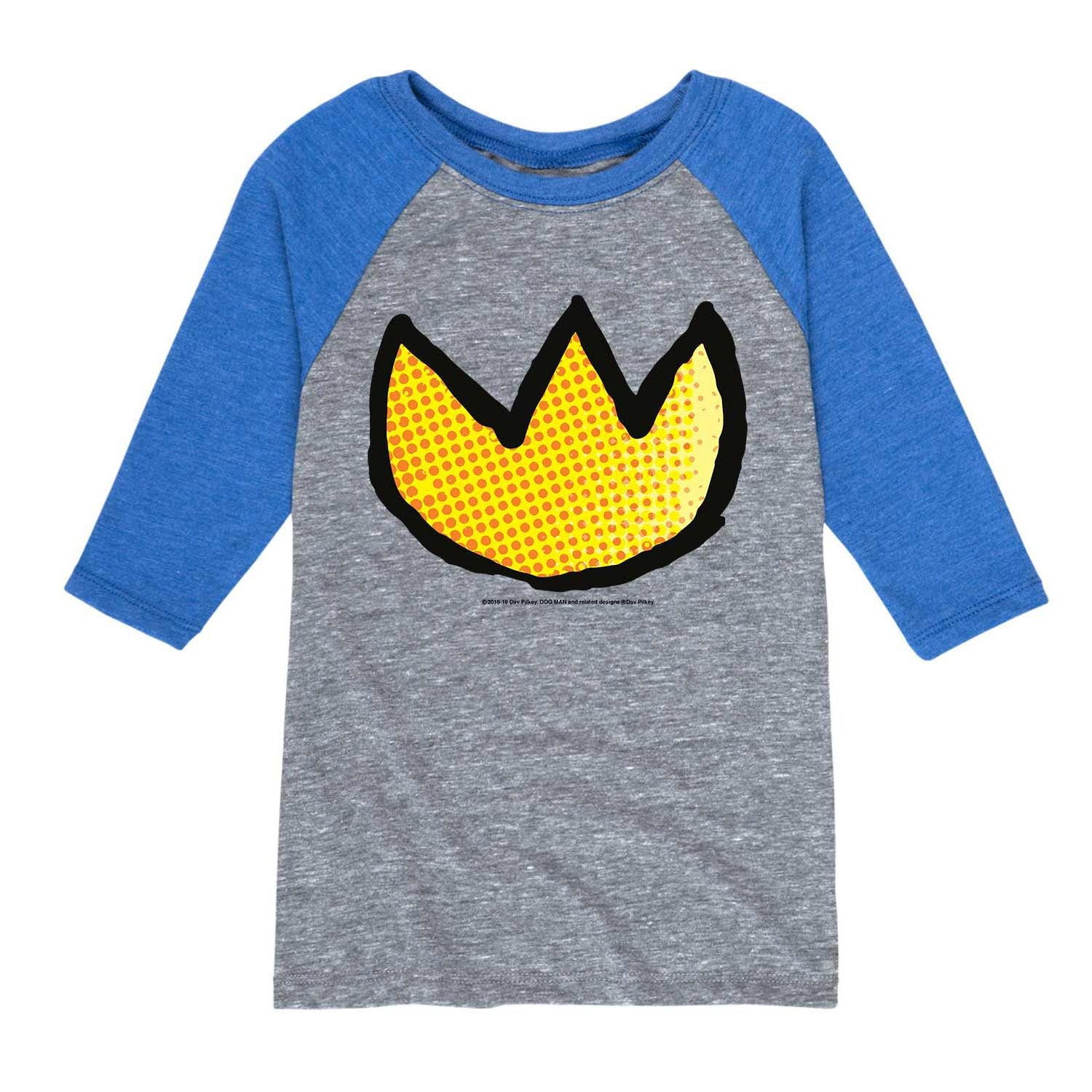 Dogman_Medallion_Dot Texture - Youth & Toddler Raglan