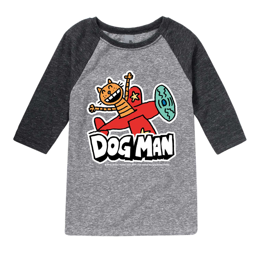 Dog Man - Petey On A Plane - Toddler Raglan