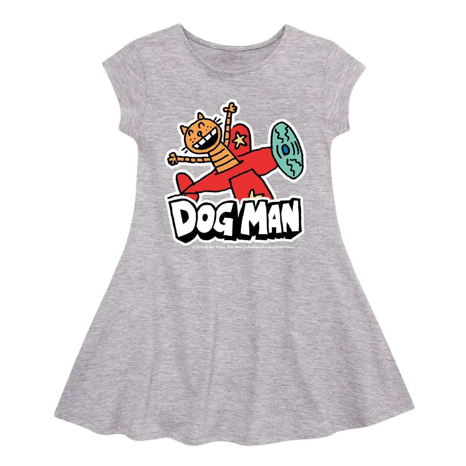 Dog Man - Petey On A Plane - Youth Fit And Flare Dress