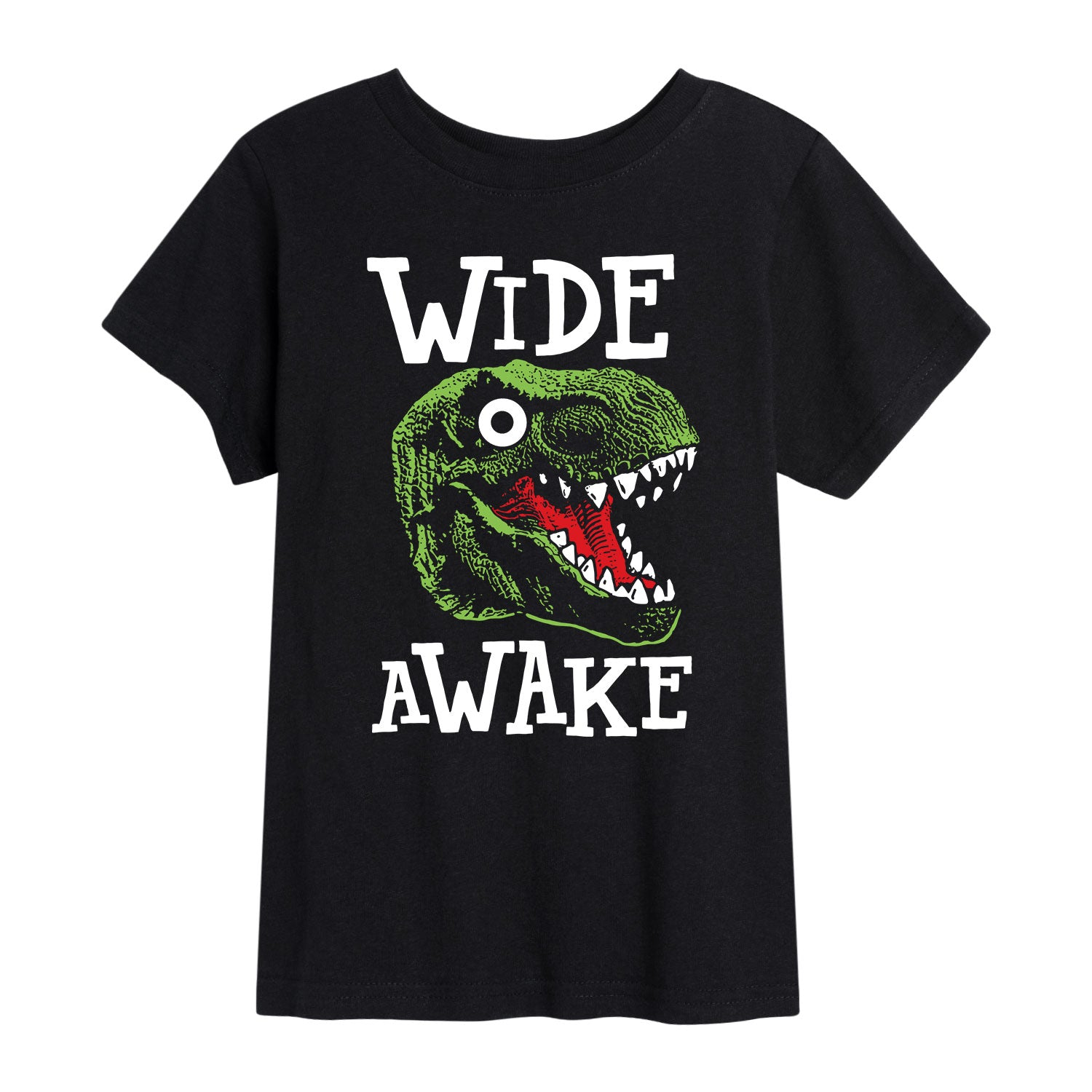 Wide Awake Dino - Toddler Short Sleeve T-Shirt