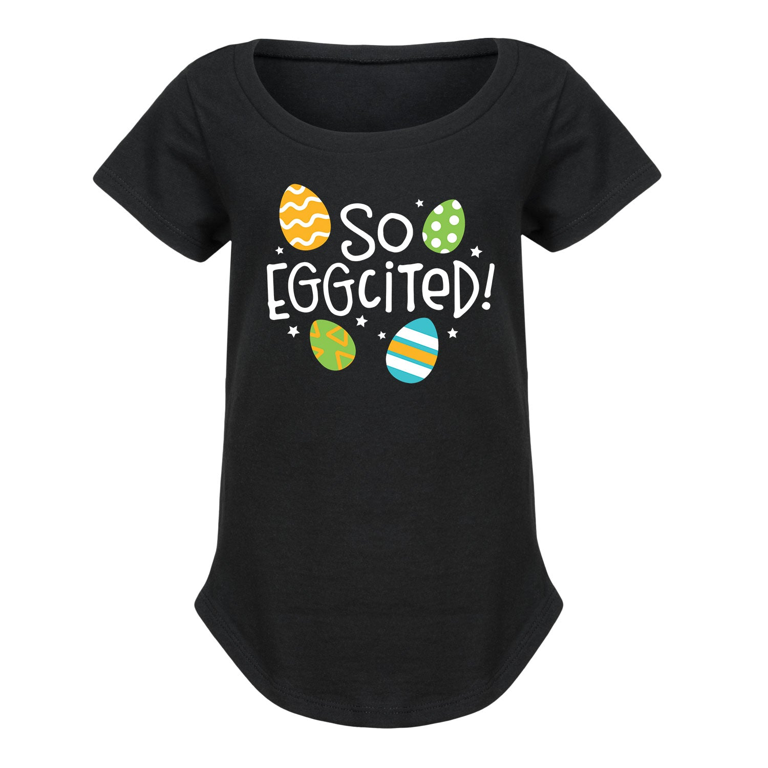 So Eggcited - Toddler Girl Short Sleeve T-Shirt
