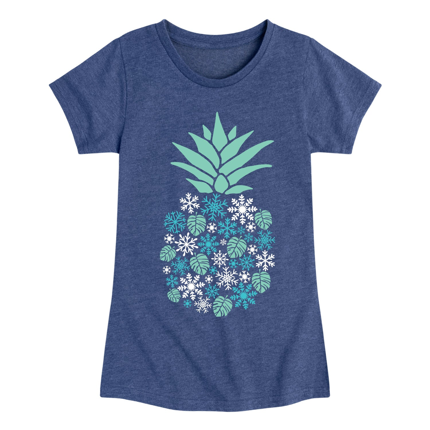 Winter Pineapple - Youth & Toddler Girls Short Sleeve T-Shirt