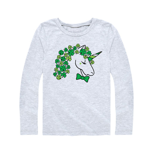 Clover Unicorn - Youth Girl Long Sleeve T-Shirt