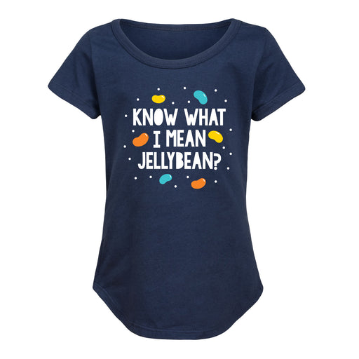 Know What I Mean Jellybean - Youth Girl Short Sleeve T-Shirt
