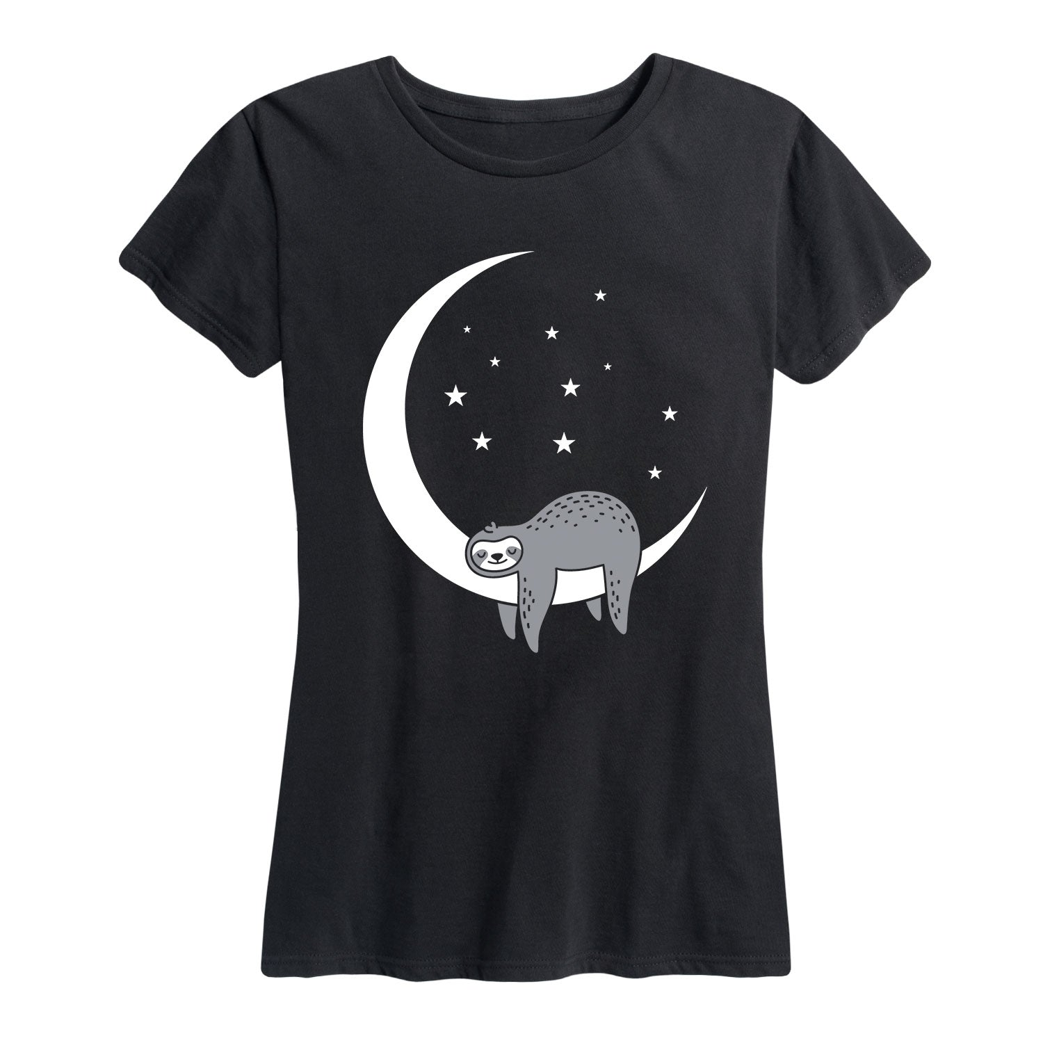 Sleeping Moon Sloth - Women's Short Sleeve T-Shirt