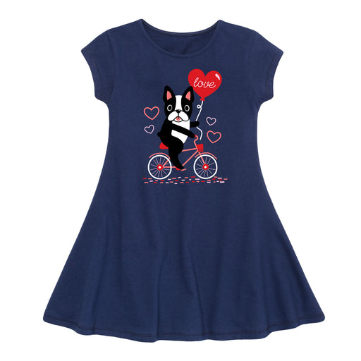 Valentine Bike - Youth Fit And Flare Dress
