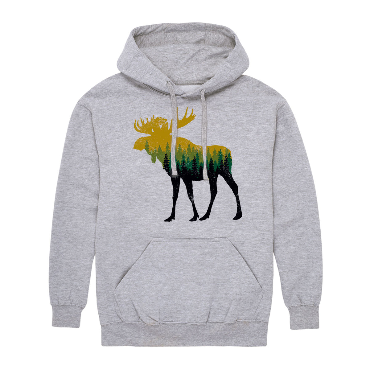 Tree Fill Moose - Men's Hoodie