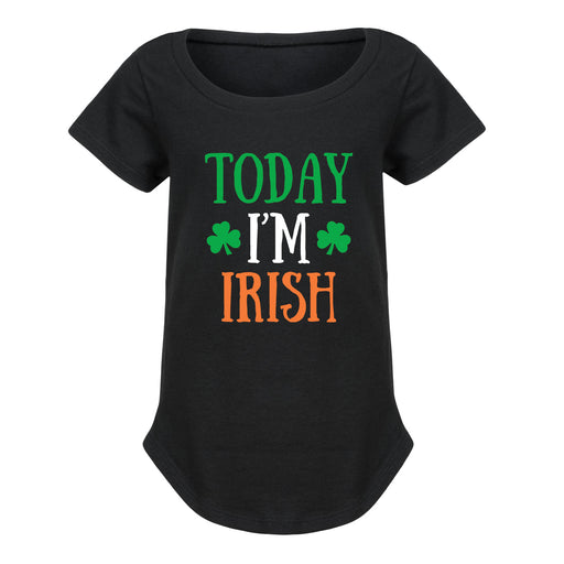 Today I'm Irish - Toddler Girl Short Sleeve T-Shirt