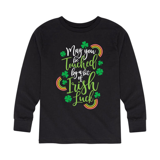 Touched by a Bit of Irish Luck - Toddler Long Sleeve T-Shirt