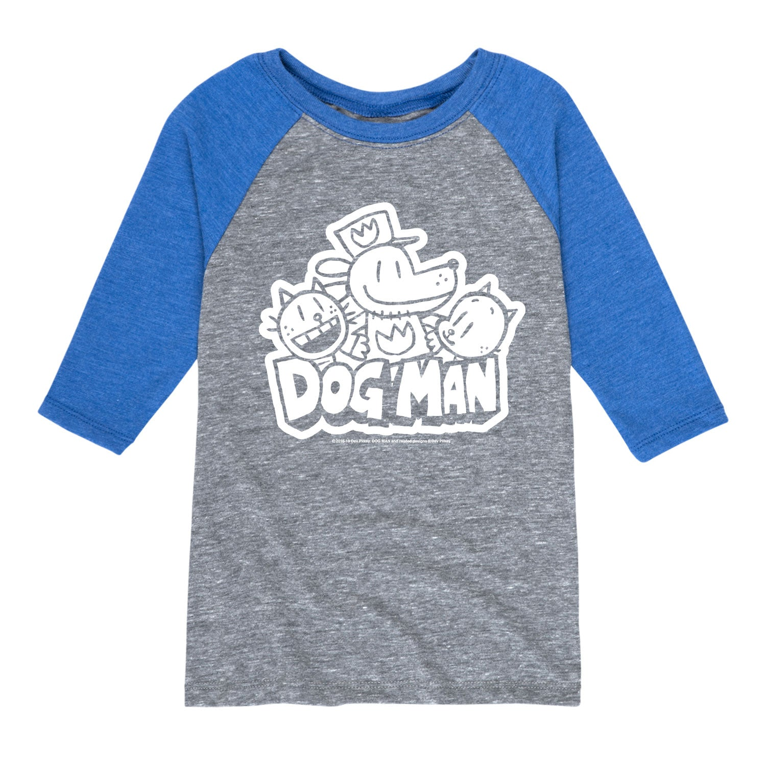 Dogman Black and White - Youth & Toddler Raglan