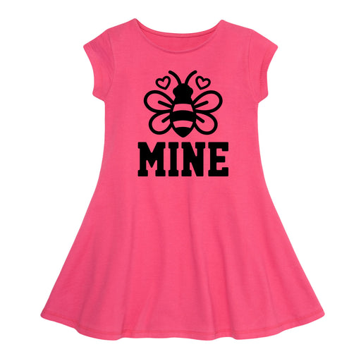 Bee Mine - Toddler Girl Fit And Flare Dress