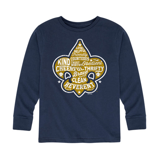 Scouts BSA - A Scout Is - Youth Long Sleeve T-Shirt