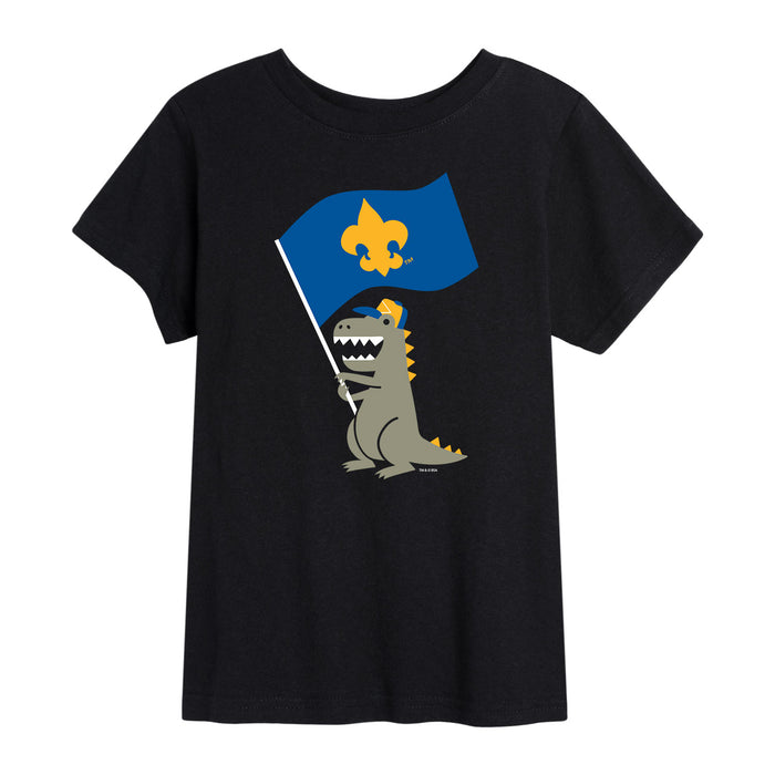 Scouts BSA - Dinosaur Flag - Youth Short Sleeve T-Shirt