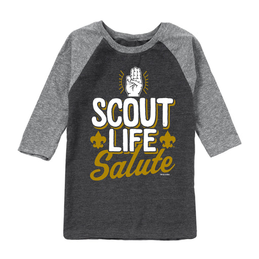 Scouts BSA - Scout Life Salute - Youth Raglan