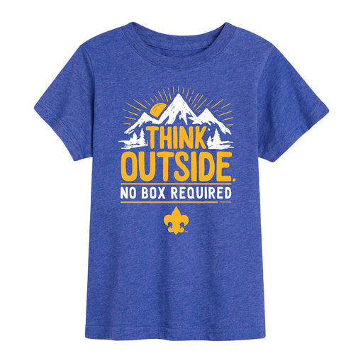 Scouts BSA - Think Outside No Box Required - Youth Short Sleeve T-Shirt