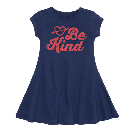 Be Kind - Toddler Fit And Flare Dress