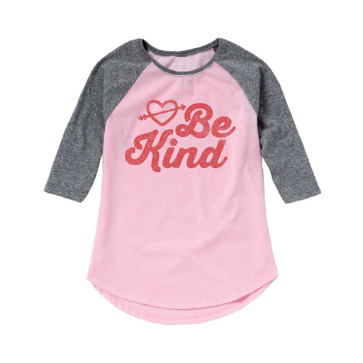 Be Kind - Youth Girl Raglan