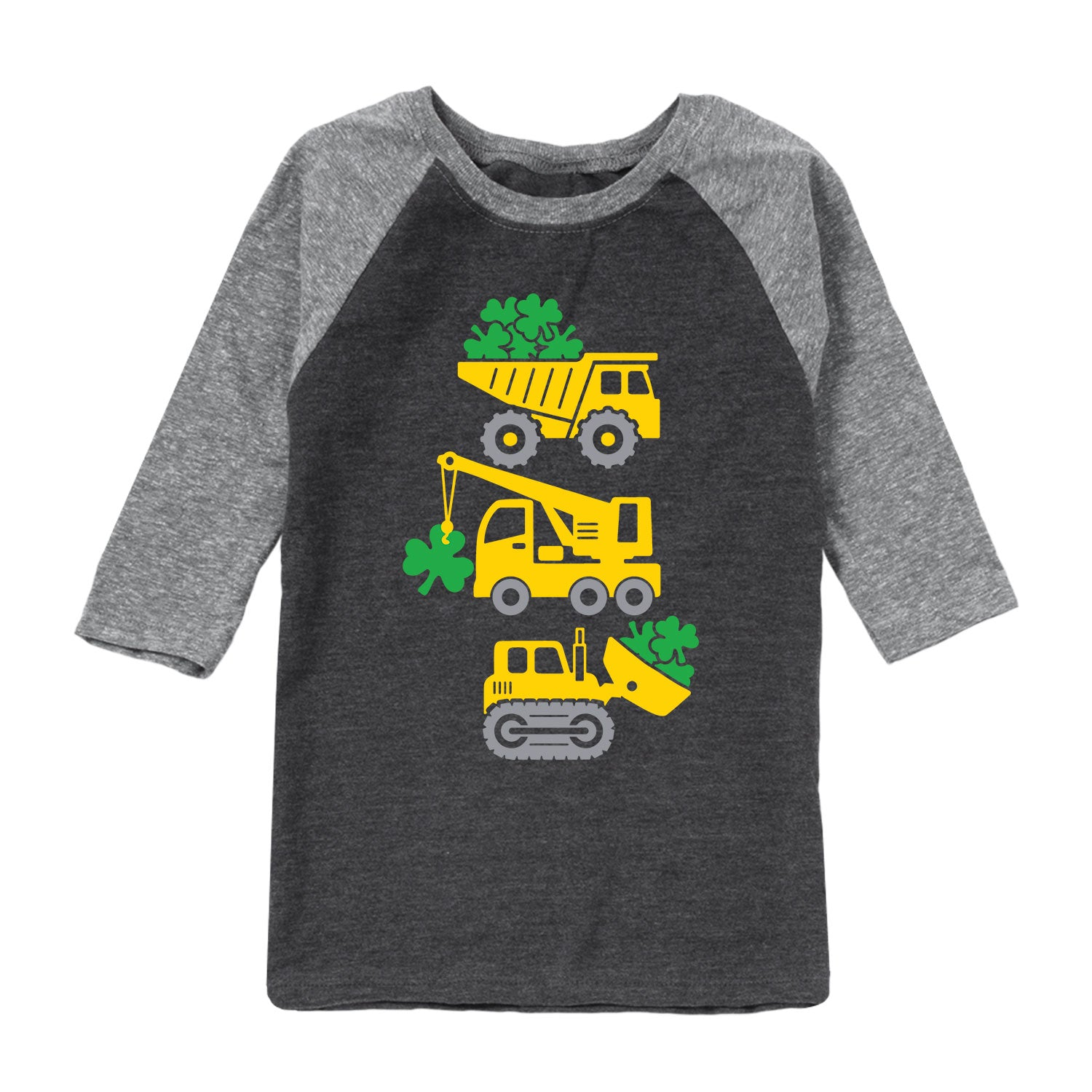St. Patricks Work Vehicles - Toddler Raglan