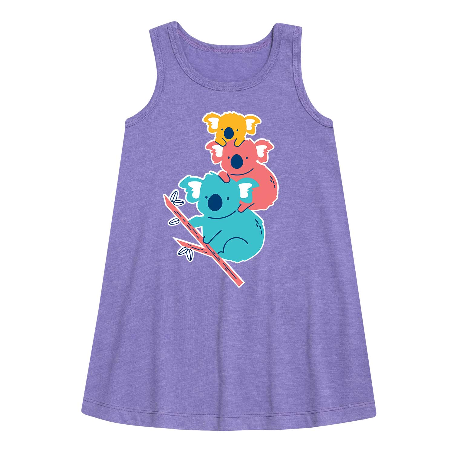 Stacked Koalas - Youth Girl's A-Line Dress