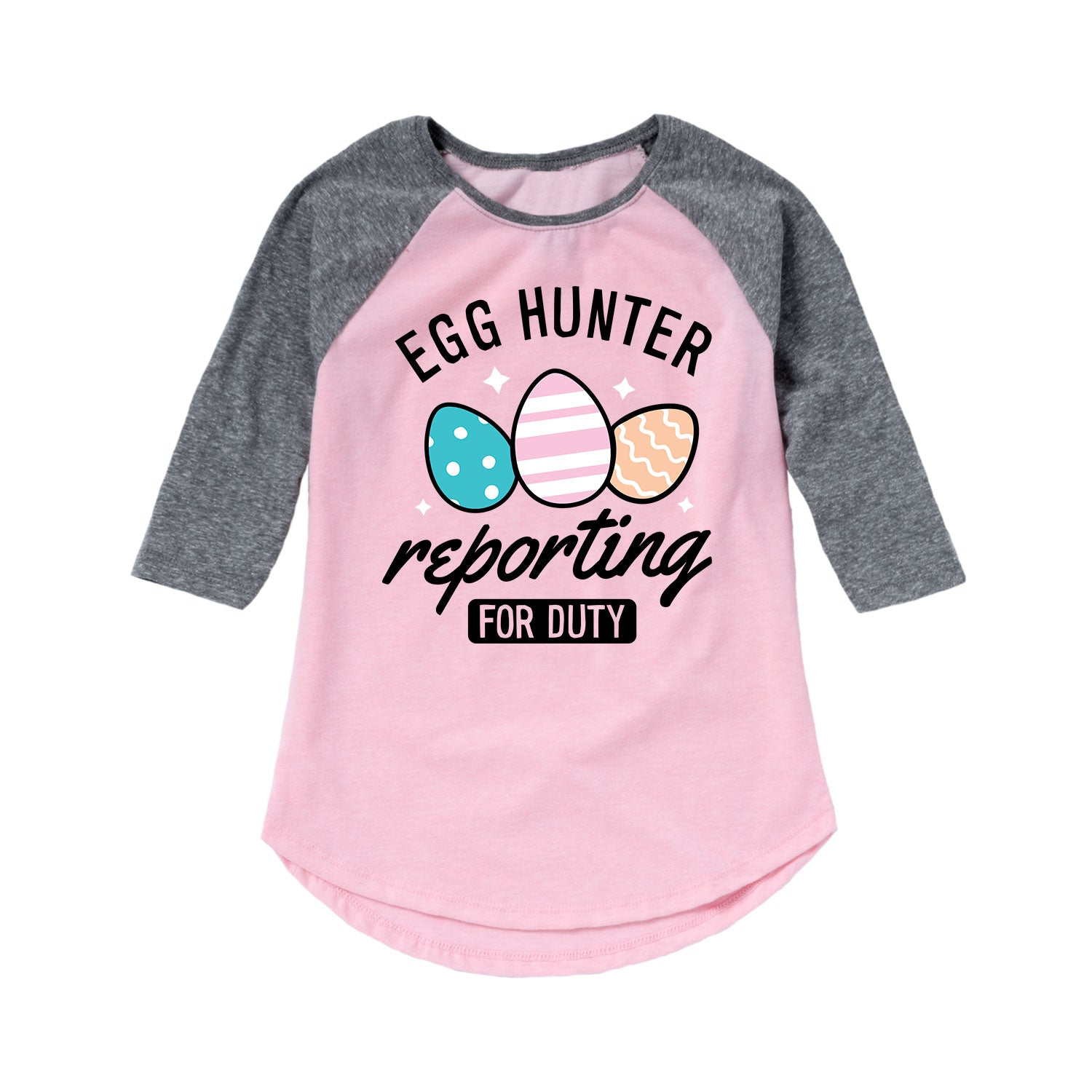 Egg Hunter Reporting for Duty - Youth Girl Raglan
