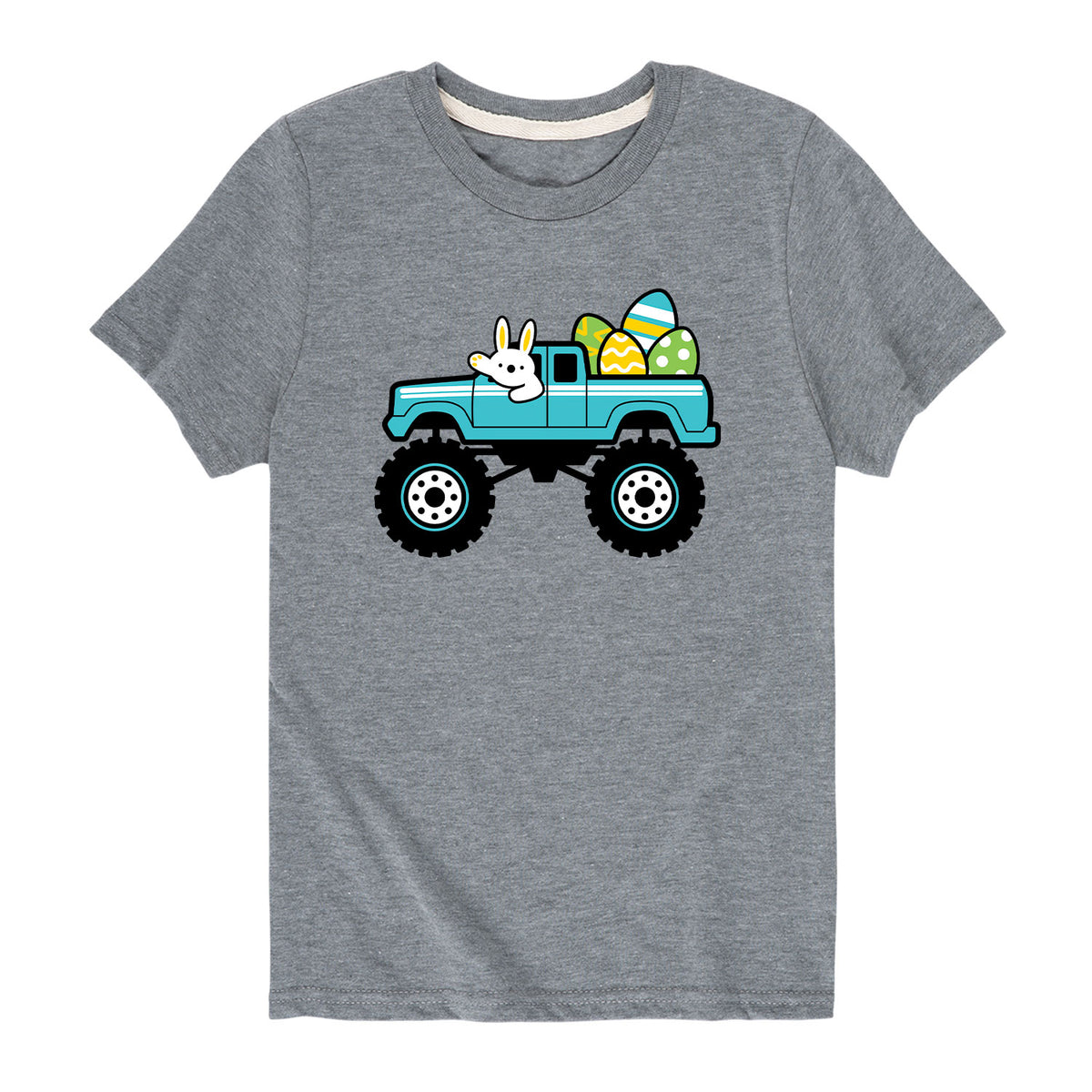 Truck with Easter Eggs - Youth & Toddler Short Sleeve T-Shirt