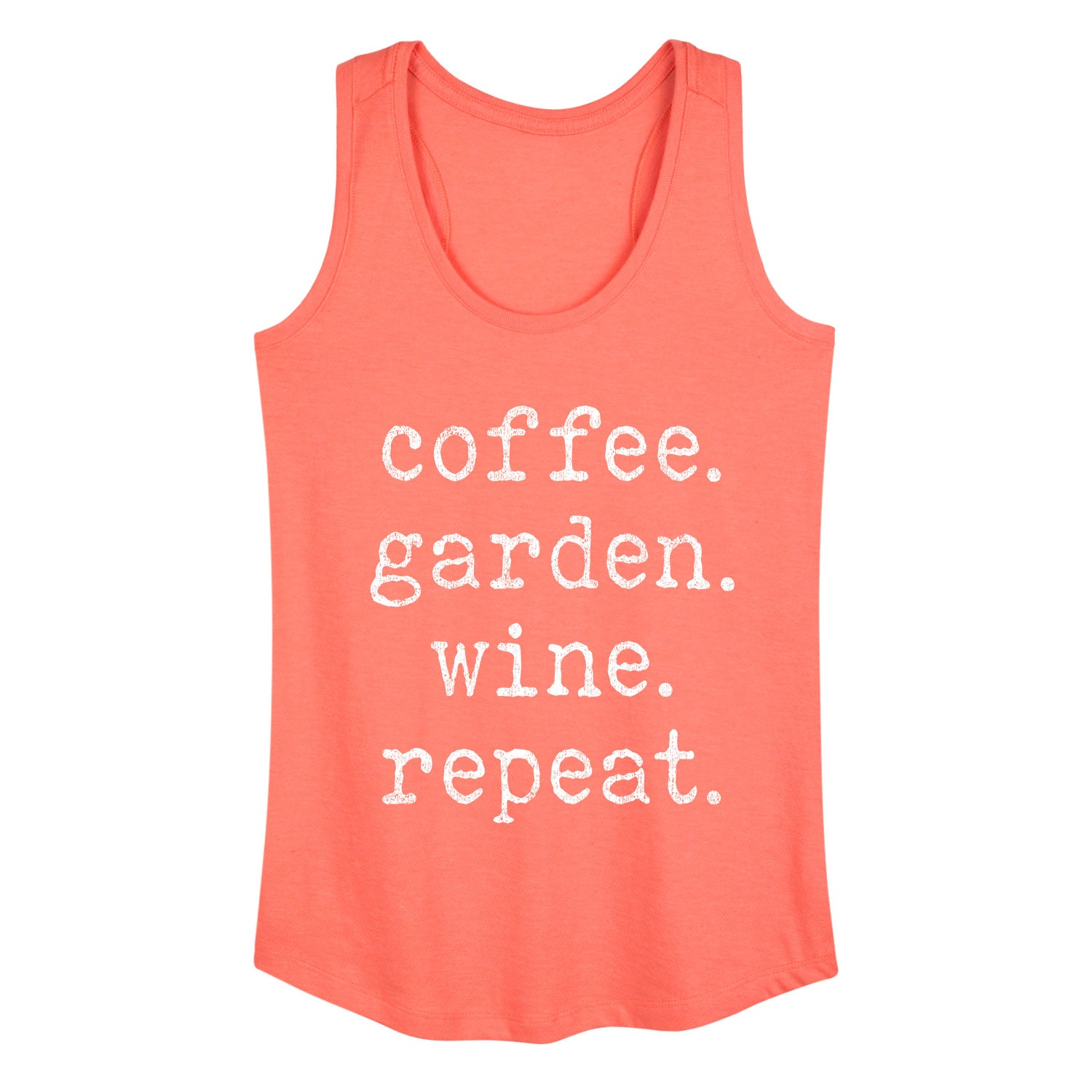 Coffee Garden Wine Repeat - Women's Tank