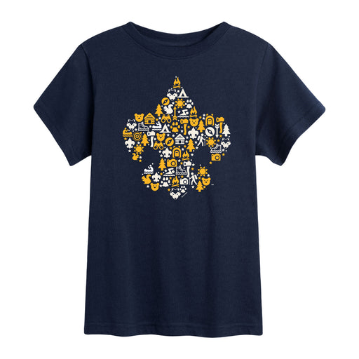 Scouts BSA - Fleur De Lis Fill - Youth Short Sleeve T-Shirt